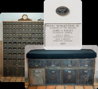 500 orange post office artifacts-m